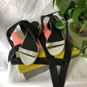 Silver J. Crew Sandals